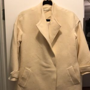 Cream Alice + Olivia pea coat